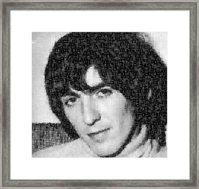 George Harrison Mosaic Image 5 Framed Print
