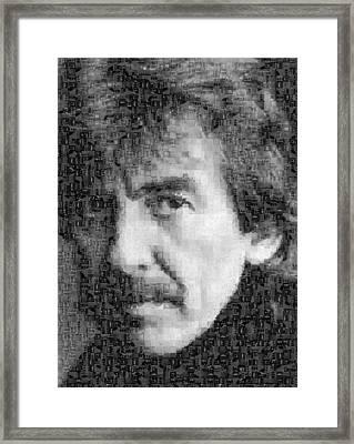 George Harrison Mosaic Image 6 Framed Print by Steve Kearns