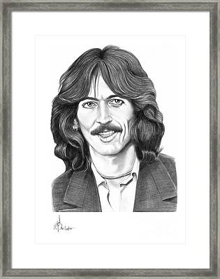 George Harrison Framed Print by Murphy Elliott