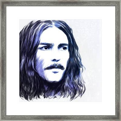 George Harrison Portrait Framed Print by Wu Wei