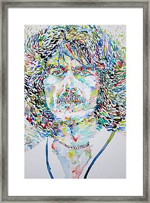 George Harrison Portrait.2 Framed Print by Fabrizio Cassetta