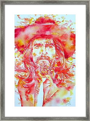 George Harrison With Hat Framed Print by Fabrizio Cassetta