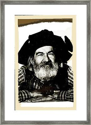 George Hayes Portrait #1 Card Framed Print