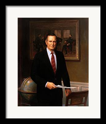 George Bush Paintings Framed Prints