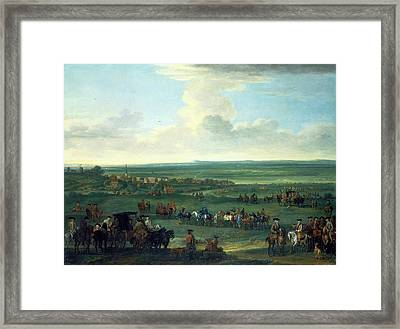 George I At Newmarket, 4 Or 5 October, 1717 Race Meeting Framed Print by Litz Collection
