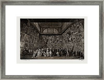George IIi. And The Royal Family At The Private View Framed Print by Litz Collection