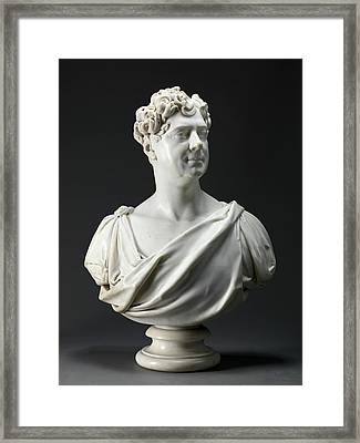 George Iv Chiseled On Supporting Column On Back Of Bust Framed Print