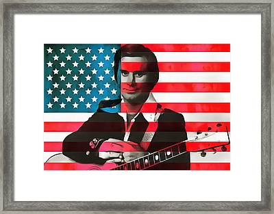 George Jones American Country Framed Print by Dan Sproul