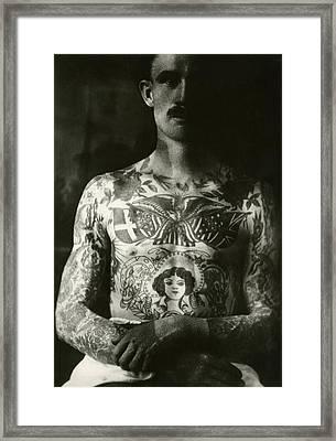 george larson Tattoo Flash Art Framed Print by Larry Mora