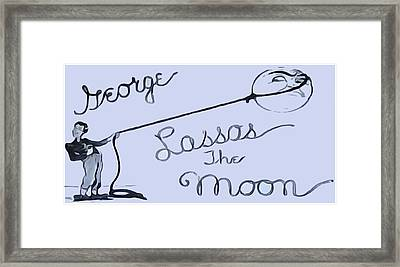 George Lassos The Moon Framed Print by Dan Sproul