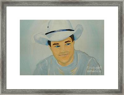Framed Print featuring the painting George by Marisela Mungia