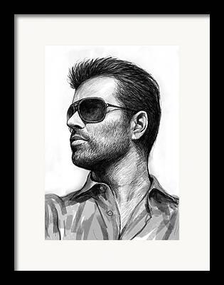 Michael Drawings Framed Prints