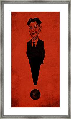 George Orwell Framed Print by Thomas Seltzer
