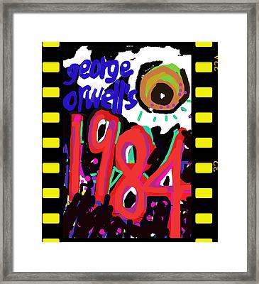 George Orwell's 1984 Poster  Framed Print by Paul Sutcliffe