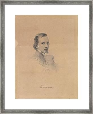 George Richmond - Self-portrait Framed Print by After George Richmond