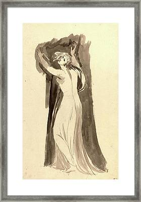George Romney, British 1734-1802, A Study Of Miranda Framed Print by Litz Collection