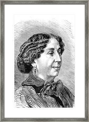 George Sand Framed Print