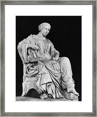 George Sand Framed Print by Jean Baptiste Auguste Clesinger