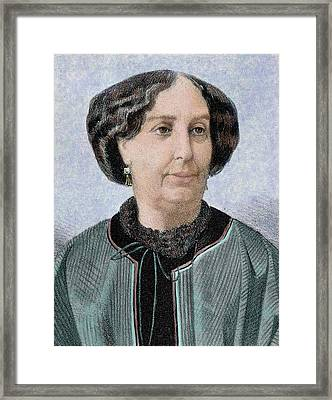 George Sand, Pseudonym Of Aurore Dupin Framed Print by Prisma Archivo