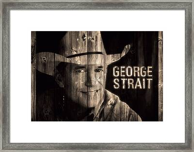 George Strait Barn Door Framed Print by Dan Sproul