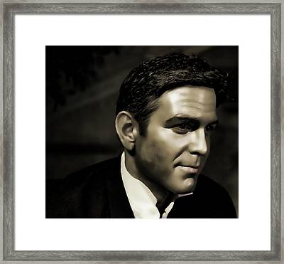 George Timothy Clooney Framed Print by Lee Dos Santos