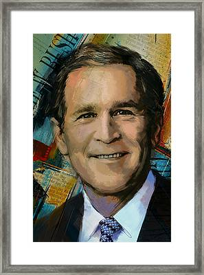 George W. Bush Framed Print by Corporate Art Task Force