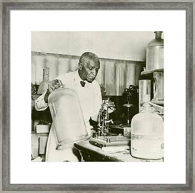 George W. Carver, Us Agriculturalist Framed Print by Schomburg Center For Research In Black Culture