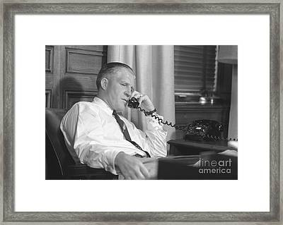 George W. Romney Of American Motors 1953 Framed Print