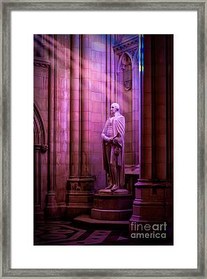 George Washington At The National Cathedral Framed Print