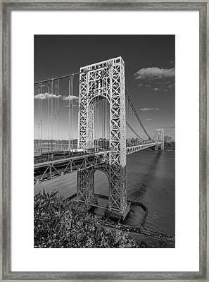 George Washington Bridge Bw Framed Print