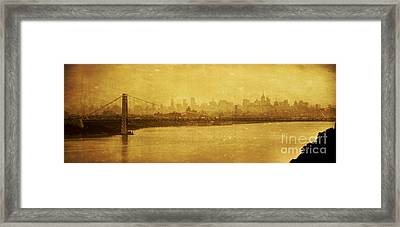 Framed Print featuring the photograph George Washington Bridge by Debra Fedchin