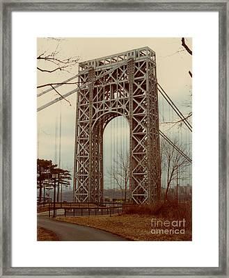 George Washington Bridge Framed Print by Nancie Johnson