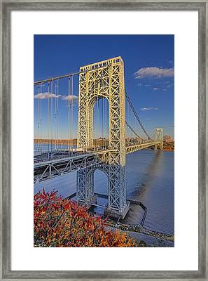 George Washington Bridge Framed Print by Susan Candelario
