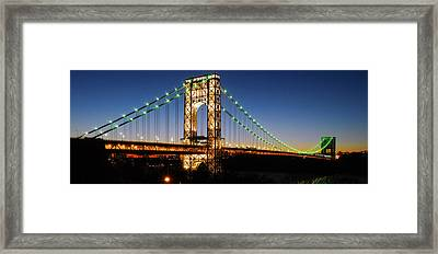 George Washington Bridge Framed Print by Yue Wang