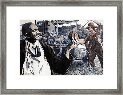 George Washington Carver Mural In Dothan Framed Print by Carol M Highsmith