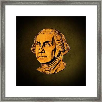 George Washington Framed Print by David Dehner