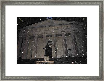 Framed Print featuring the photograph George Washington Federal Hall by Robert  Moss