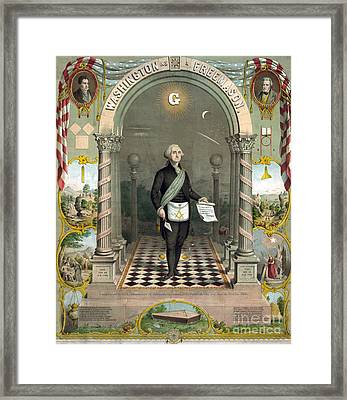 George Washington Freemason Framed Print