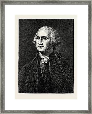 George Washington, He Was One Of The Founding Fathers Framed Print by American School