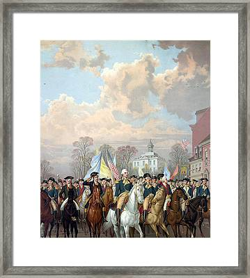 George Washington Riding In Triumph Framed Print by Unknown