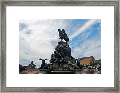 George Washington Statue Framed Print