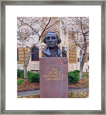 George Washington University Bust 1958 Framed Print