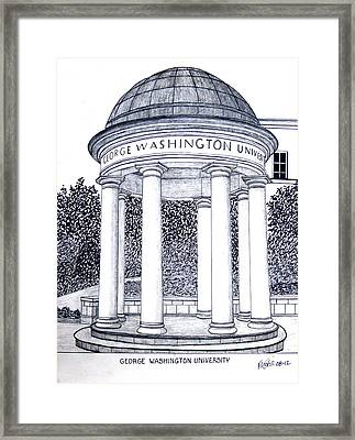 George Washington University Framed Print by Frederic Kohli