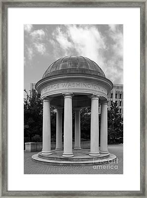 George Washington University Kogan Plaza Framed Print by University Icons