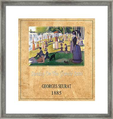 Georges Seurat 2 Framed Print by Andrew Fare