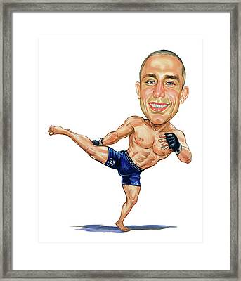 Georges St. Pierre Framed Print