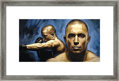 Georges St-pierre Artwork Framed Print
