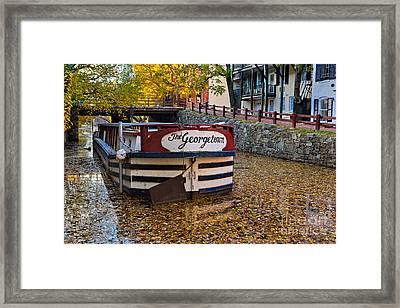 Georgetown Barge Framed Print