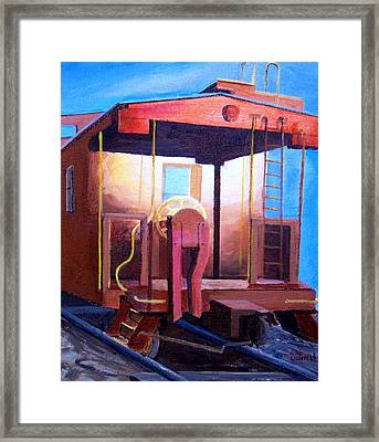 Georgetown Caboose Framed Print