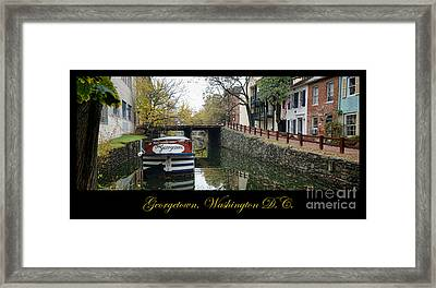 Georgetown Canal Poster Framed Print by Olivier Le Queinec